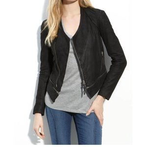 Norstrtom   IMPROVD Leather Moto Jacket Black M